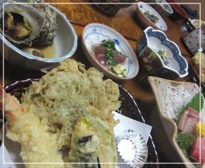 江の島「かきや旅館」にて、魚尽くしの夕御飯♪