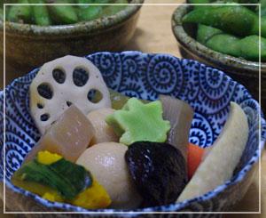 野菜のうま煮。しっかり味で美味でした♪
