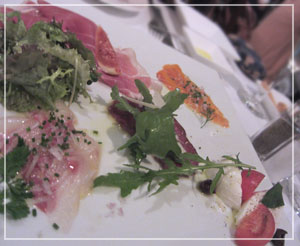 「la Vela」にて、前菜盛り合わせ~