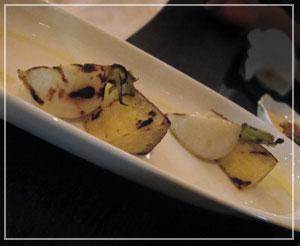ホテル日航東京「Taronga」にて、最初の一皿のお野菜。