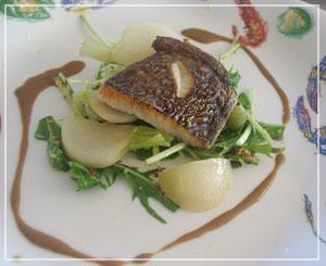 富里「Cucina Tokionese Cozima」にて、皮目パリパリ平目のグリル