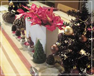 とってもクリスマス!な食卓。綺麗綺麗♪