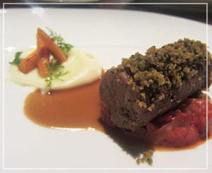 「CERISE by GORDON RAMSAY」にて、メインディッシュの仔牛すね肉。