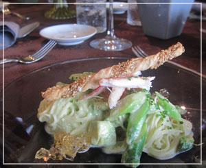 田中玉緒さんのお料理教室。緑色の冷たいパスタ♪