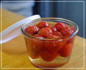 初挑戦、トマトのコンポート。しっかり甘いのです。