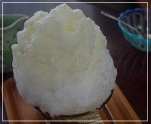 「埜庵」にて、初体験の梨かき氷!うまー♪