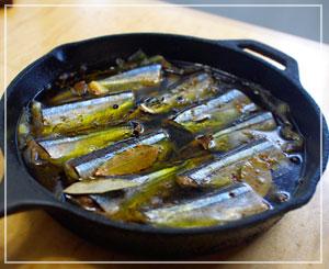 秋刀魚のコンフィができましたよ~