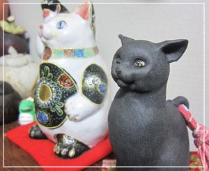 吉田一也さんの「猫鈴」。カラカラと乾いた綺麗な音がします。