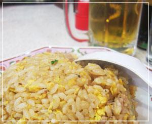 炒飯&ビール、そして餃子。うまっ♪