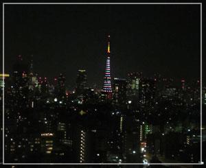 今宵の東京タワーはこんなでした。キャンドルみたい?