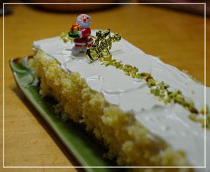 今年のXmasケーキはどっしり系レアチーズ。