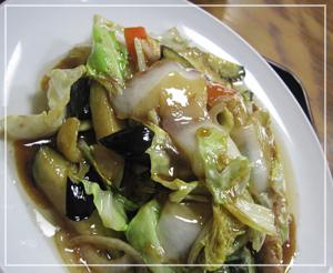 久しぶりの「茄子野菜炒め」。肉もがっつり入ってます。