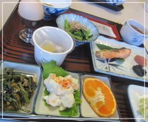 白米が美味しく食べられるものばかりな、朝御飯。