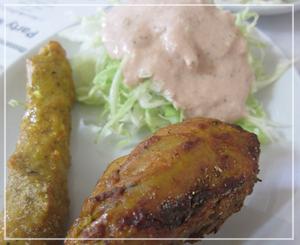 稲毛「インド料理ガガル」にて。シークカバブがからーい♪うまーい♪
