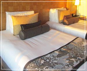 マンダリンオリエンタル東京、ベッドはこんな感じで