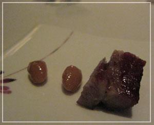 マンダリンオリエンタル東京「SENSE」の突き出し。3倍量くらい食べたかったなー