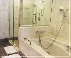 ホテルオークラ東京、ジュニアスイートのバスルーム
