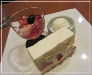 帝国ホテル「嘉門」にて、デザートは「好きなだけ」。うひょー。