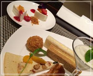 ヒルトン東京デザートブッフェ、最初はしょっぱいもの系からじわじわと。