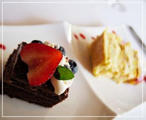 「SABATINI di Firenze 東京店」にて、誕生日プレゼントのチョコケーキと選んだミルフィーユと
