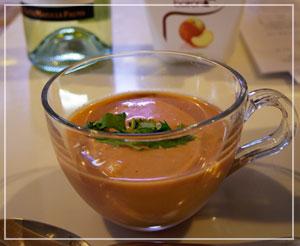 田中玉緒さんのお料理教室。エスニック風味のトマトスープ♪
