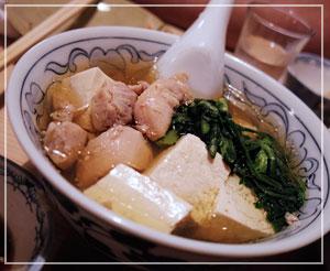 銀座「三州屋」にて、これが名物とり豆腐。