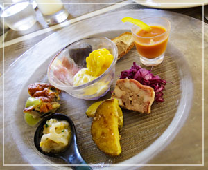 富里「Cucina Tokionese Cozima」にて、前菜盛り合わせ。すてきすてき♪
