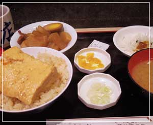 日本橋「お多幸本店」にて、とうめし定食全景。