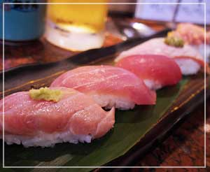 回転寿司「銚子丸」にて、本まぐろを堪能中~。
