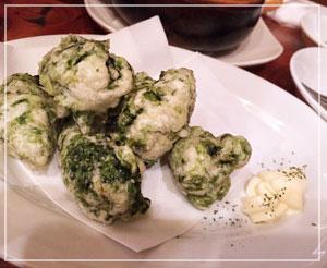 津田沼「ビストロコモ食堂」にて、揚げたてもちもちゼッポリーニ♪