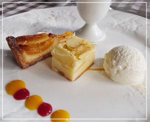 津田沼「chez Como」にて、デザートもちょっと豪華な盛り合わせ。