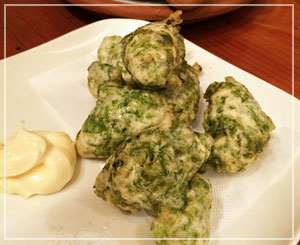 津田沼「ビストロコモ食堂」にて、来たら食べたくなるゼッポリーニ。