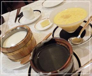 横浜ベイシェラトン「香港的ナイト飲茶バイキング」にて、調子に乗ってデザート注文しすぎた……。