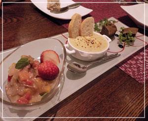 津田沼「ラシェットM」にて、様々な種類があるピンチョス皿。