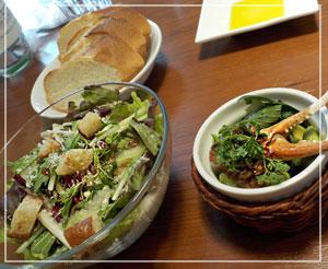津田沼「クラッカ」にて、ランチコース。ボリュームたっぷりのサラダとタパスが嬉しい♪