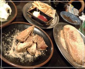 パンの耳と揚げパンとフライドポテト。油断すると揚げ物ばっかりに……。