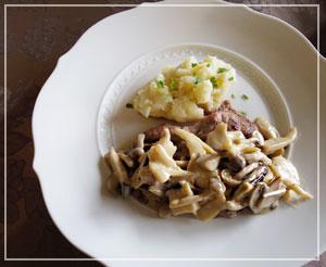 メインは「仔牛のスカロッピーネ」。手順は簡単、でもしっかり「よそゆきの味」で。