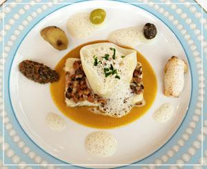 丸の内「Monna Lisa」にて、魚料理はチョウザメですって。キャビアの親?
