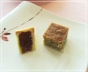 日本橋「SENSE」にて、お茶菓子はパイナップルケーキ♪
