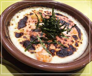 サイゼリヤでお昼御飯。タラコとエビのドリア~。