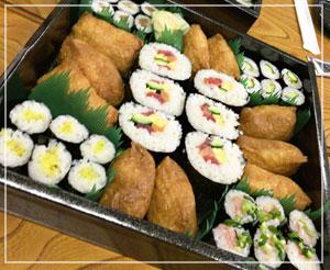 みんなで寿司盛り。ねぎとろもあるよー。