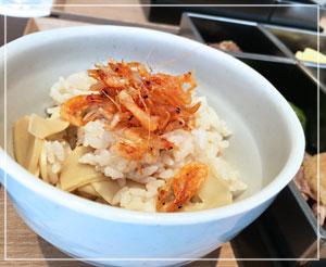 桜海老on筍御飯。やばい、美味しすぎ。