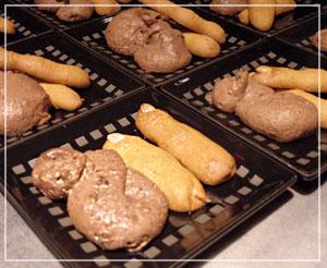 これもグロキモ、「指クッキー」。指、美味しかったです。