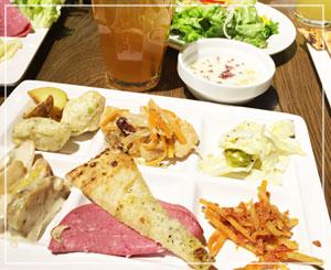 千葉の「SALVATORE CUOMO & BAR」のランチは前菜やサラダが食べ放題で、こんな感じ。