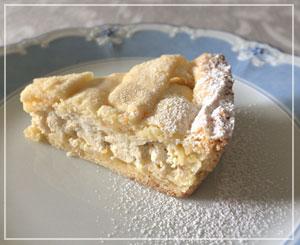 初めて食べた「パスティエーラ ナポレターナ」。懐かしいような素朴な味のタルトです。