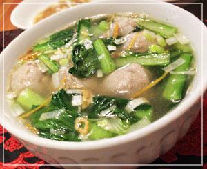 なんだかとっても知っている味がした、「台湾肉団子スープ」。