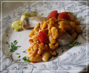 立派なサイズの自家製サルシッチャ。自家製は自然な風味でほんと、おいしい。