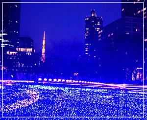 東芝提供の「スターライトガーデン 2017」。壮観でした。きれいきれい。