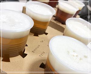 千葉そごうの物産展にて、常陸野ネストビールもごくごく。