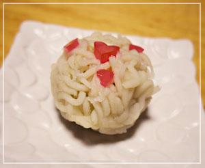 苺大福で有名な「翠江堂」のバレンタインねりきりを。かわいい~。